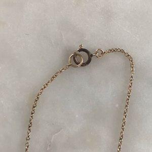 "Jewelry - Gold Key Charm Necklace On 18"" Dainty Chain"